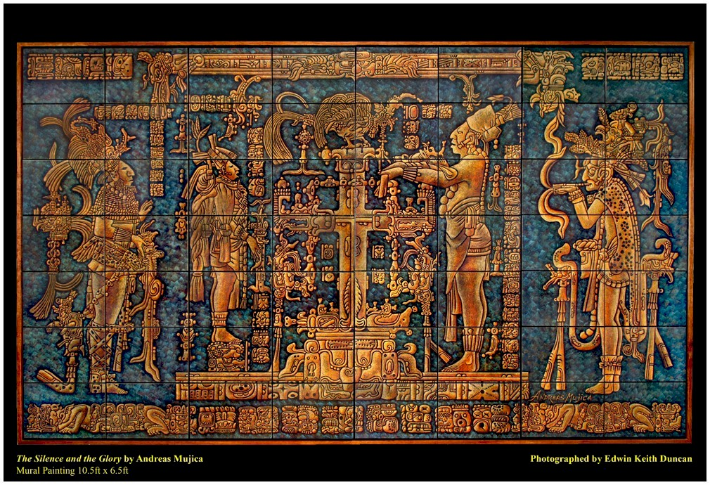 The Silence and the Glory by Andreas Mujica. Mayan Art mural link thumbnail